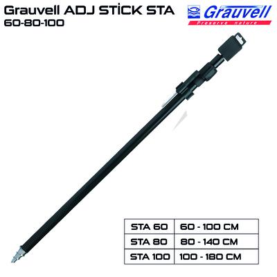 Grauvell - Grauvell ADJ STİCK STA 60-80-100 cm Alüminyum Kamış Ayak