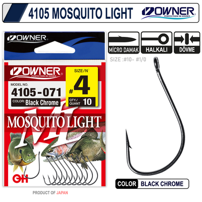 OWNER - Owner 4105 Musquito Light Black Chrome İğne