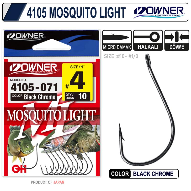 Owner 4105 Musquito Light Black Chrome İğne