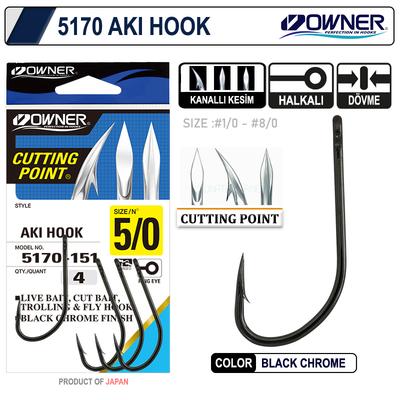 OWNER - Owner 5170 Aki Hook Black Chrome İğne