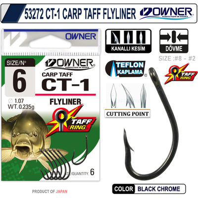 OWNER - OWNER 53272 CT-1 CARP TAFF FLYLINER