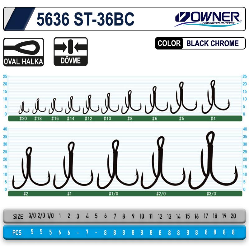 Owner 5636 St-36 Black Chrome Çarpma İğne