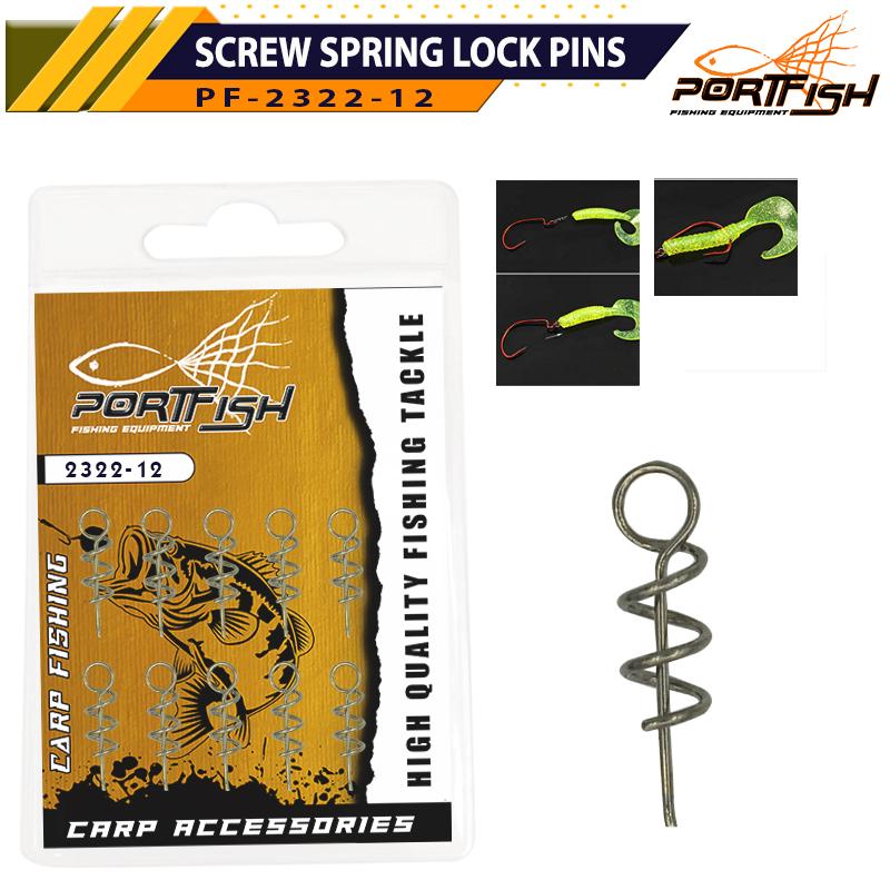 Portfish 2322-12 Screw Spring Lock Pins