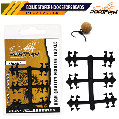 PORTFISH - Portfish 2322-14 Boilie Stoper Hook Stops Beads