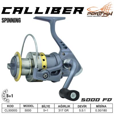 PORTFISH - Portfish Calliber 5000 fd Olta Makinası 2+1 bb - Gri