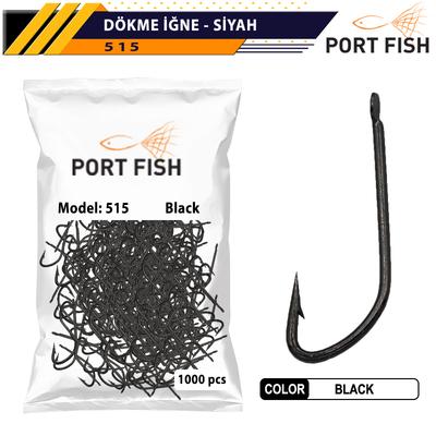 PORTFISH - Portfish Dökme İğne Siyah 1000 Li Paket
