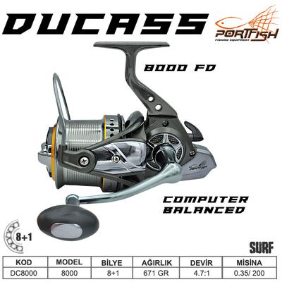 PORTFISH - Portfish Ducass 8000 fd Surf Olta Makinası 8+1 bb