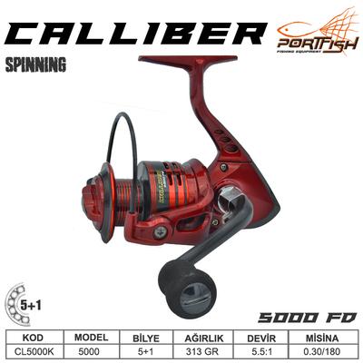 PORTFISH - Portfish Calliber 5000 fd Olta Makinası 2+1 bb - Kırmızı