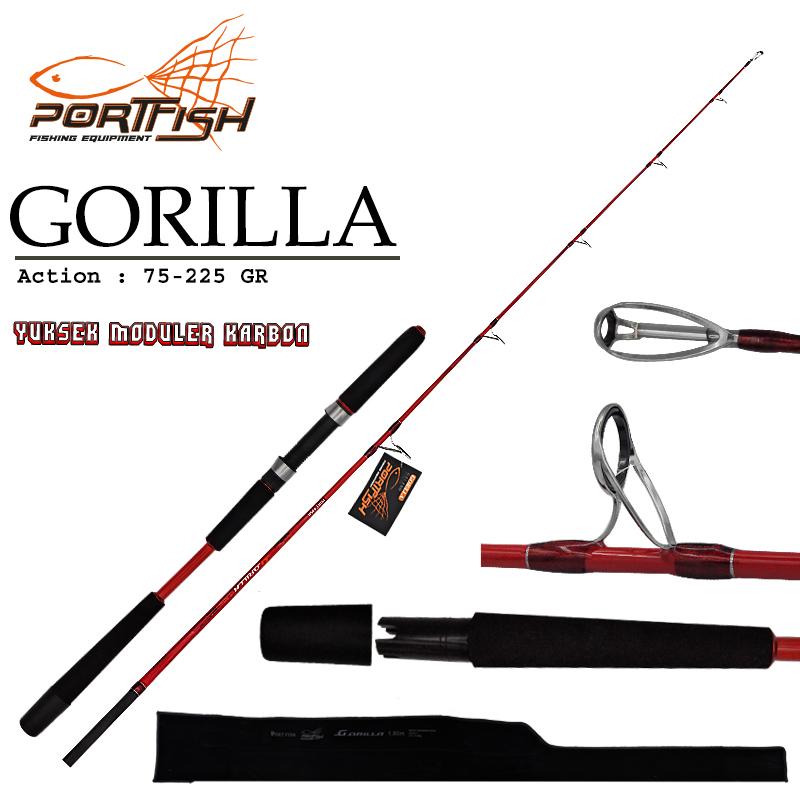 Portfish Gorilla Jig Kamışı 180 cm Tek Parça  75-225 gr 2 Parça