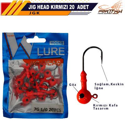 PORTFISH - Portfish Jig Head Kırmızı 20 Li Pkt