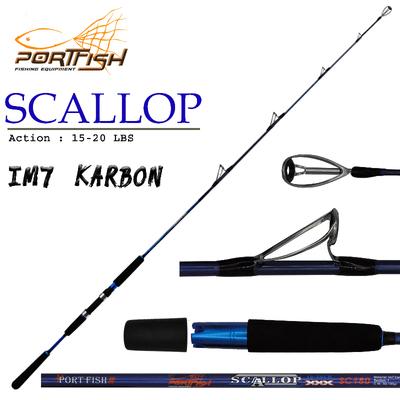 PORTFISH - Portfish Scallop Jig Kamışı 195 cm Tek Parça 60-180 gr