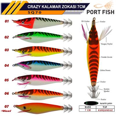 PORTFISH - Portfish Crazy Kalamar Zokası 7 cm