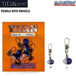 TITAN - Titan Bead Pearl Swivel 6'lı Paket Fırdöndü