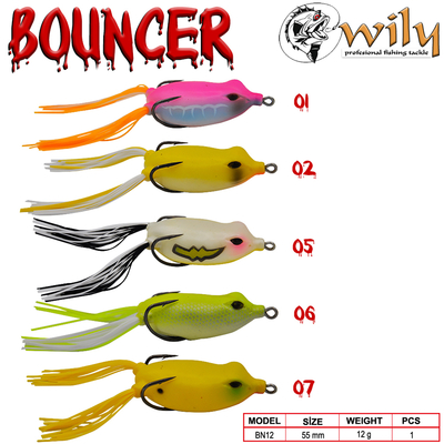 WILY - Wily Bouncer Silikon Kurbağa 5.5 cm 12 gr