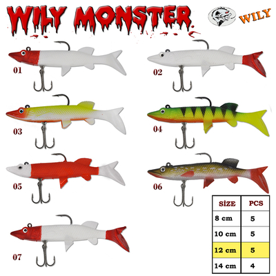 WILY - Wily Monster Turna Silikon 12 cm