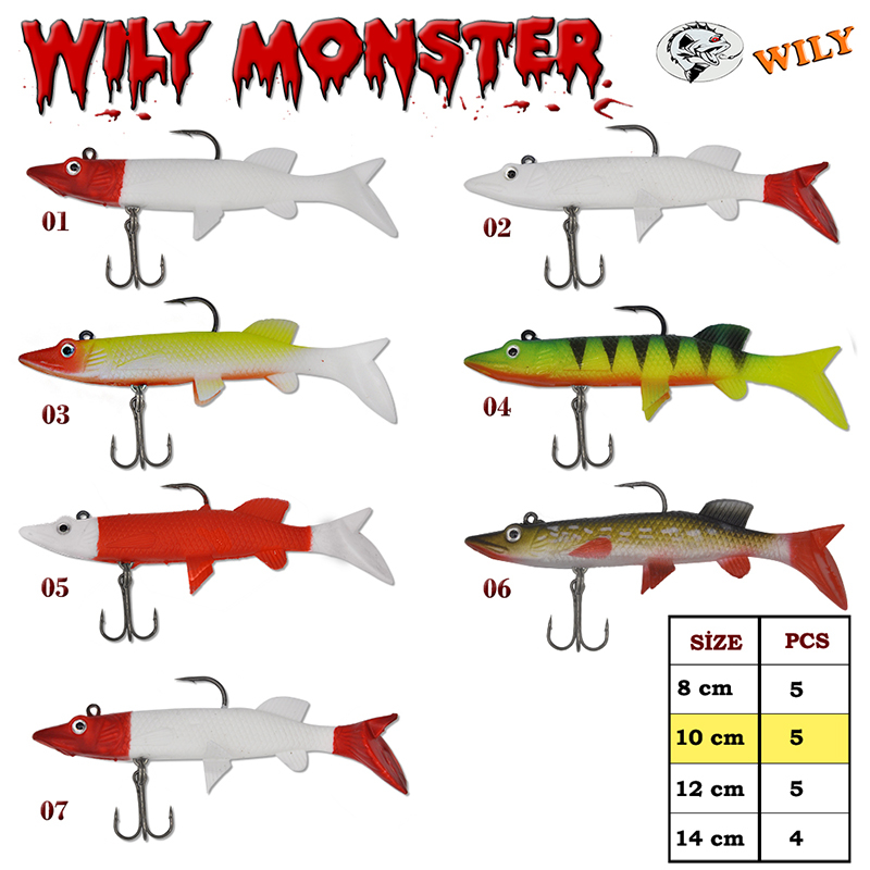 Wily Monster Turna Silikon 10 cm